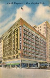 Los Angeles CA Hotel Hayward Linen Postcard
