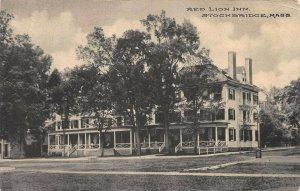 Red Lion Inn, Stockbridge, Massachusetts, Early Postcard, Used  in 1910