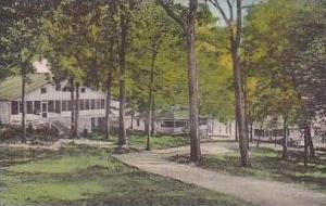 Virginia Harrisonburg South Cottage Row Massanetta Springs Handcolored Albertype