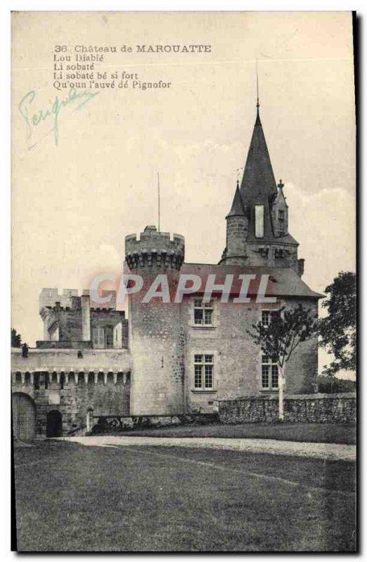 Old Postcard Chateau de Marouatte