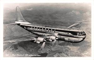 Northwest Stratocruiser, Real Photo Postcard, Unused
