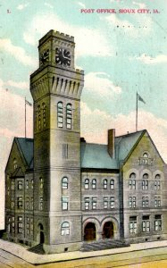 Sioux City, Iowa - A view of the Post Office - in 1909