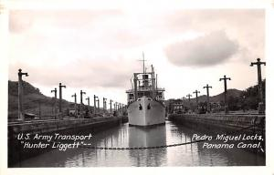 Panama Old Vintage Antique Post Card US Army Transport, Hunter Liggett Pedro ...