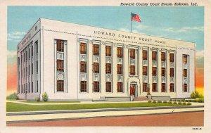 Howard County Court House, Kokomo, Indiana, Early Postcard, Unused