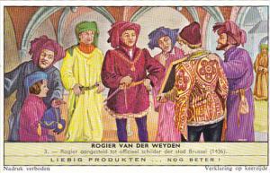 Liebig Trade Card s1764 Roger de la Pasture No 3 Rogier aangesteld tot offici...