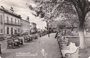 RP; MATAMOROS, Tamaulipas; 1950s; Calle Morelos, Street View, Park, Hotel Villa