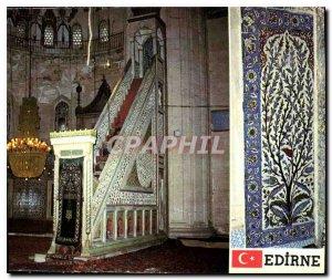 Postcard Modern Turkey Edirne Selimiye Camii ve bir here cini panosu