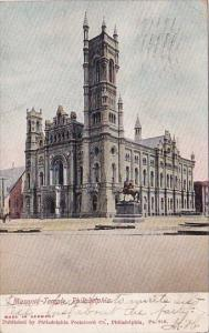 Pennsylvania Philadelphia Masnic Temple 1906