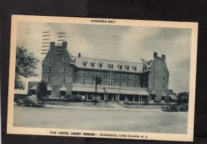 NY Henry Perkins Hotel Riverhead Long Island New York City NYC Postcard