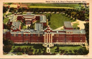 Minnesota Rochester St Mary's Hospital Aerial View Curteich
