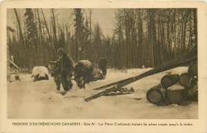 North Canadian Extreme Missions Coadjutor Brothers Train the cut trees