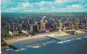 New Jersey Atlantic City Beach and Skyline