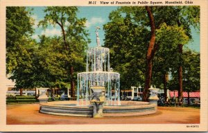 LOT OF 3 MANSFIELD OHIO OH ANTIQUE  POSTCARDS FOUNTAIN SKYLINE STORES MONUMENT