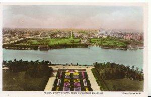 Canada Postcard - Regina - Saskatchewan From Parliament Buildings RP - Ref 570A