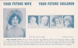 Humour Vintage Arcade Card Your Future Wife Will Be A Chorus Girl