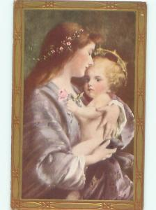 Pre-Linen Christmas Nativity MARY HOLDING BABY JESUS AC4570