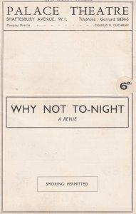 Why Not Tonight Greta Nissen Nelson Keys Musical Palace Theatre Programme