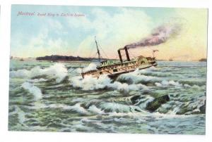 Steamer Rapid King Lachine Rapids Montreal ca 1910 Postcard