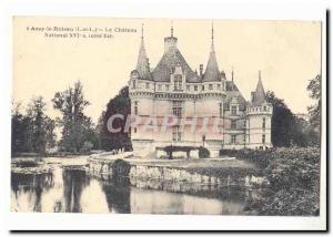 Azay le Rideau Old Postcard 16th National castle (East Coast)