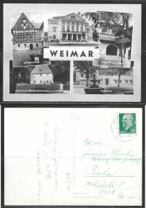 Germany (DDR) Weimar, 1966, mailed to Czechoslovakia