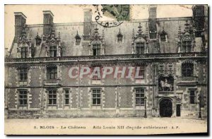 Old Postcard Blois Chateau Louis XII Wing external fa?ade