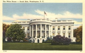 South Side of the White House, Washington, DC - Linen