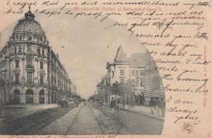 Bucuresci , Romania , PU-1901; Ministerul de Rasboi si Bulevard Carol I