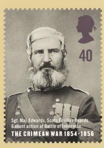 Sergeant Major Edwards Scots Fusilier Guards Crimean War Postcard
