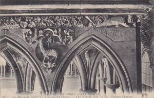 France Abbaye du Mont Saint-Michel La Merveille Tympan du Cloitre
