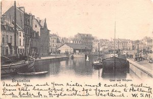 Quai aux Briques Bruxelles Belgium 1901 Missing Stamp