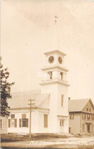 A4/ Cape Porpoise Maine Me RPPC Real Photo Postcard c1910 M.E. Church