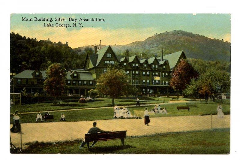 NY - Lake George. Silver Bay Association Main Building