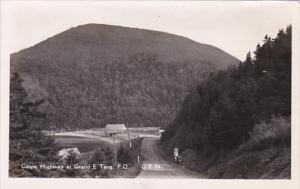 Canada Gaspe Highway At Grand E'Tang Real Photo