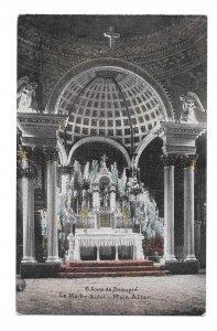 Canada Quebec Basilica St Anne de Beaupre Church Main Altar Vintage Postcard