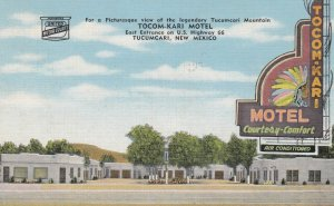 TUCUMCARI , New Mexico , 1930-40s ; RT 66 ; Tocom-Kari Motel