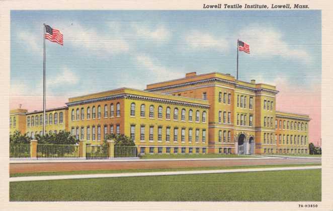 Lowell Textile Institute - Lowell MA, Massachusetts - Linen