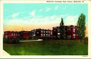 Vtg Carte Postale Belleville Township Illinois Il - Haut École