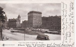 View East from Clinton Street Bridge Street Car, SYRACUSE, New York, PU-1907