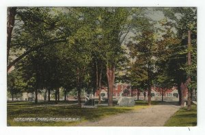 Herkimer, New York, Vintage Postcard View of Herkimer Park, 1908