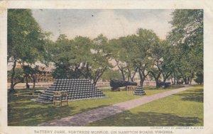 HAMPTON , Virginia , 1907 ; Battery Park, Fortress Monroe, On Hampton Roads