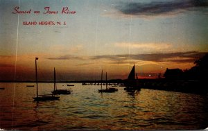 New Jersey Island Heights Sunset On Toms River 1958
