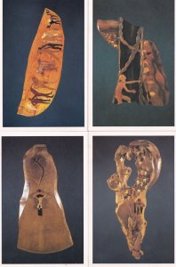 William Fairbank The Forest Stations People in Wood Sculpture 4x Postcard s