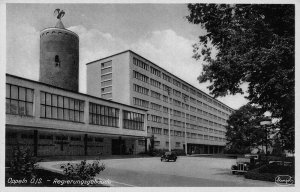 Poland Opole Oppeln O/S Regierungsgebaude industry vintage cars Postcard