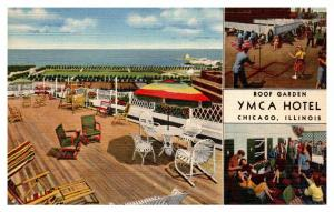 Illinios Chicago , YMCA Hotel  , Roof Garden
