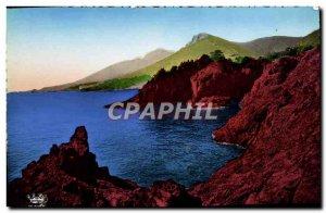 Modern Postcard The Cote d & # 39Azur Corniche d & # 39Or Rocks From Trayas