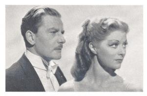 Nostalgia Postcard Actor Anton Walbrook with Moira Shearer 1948 Repro Card NS39