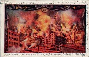 1906 San Francisco CA Disaster Earthquake and Fire California Postcard G17