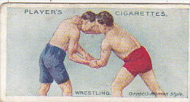 Cigarette Card Player and Sons Wrestling & Ju-Jitsu 1913 No 1 Usual First Grip