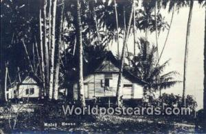 Malaysia, Malaya  Malay House Real Photo