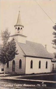 Maine Farmington Catholic Church Real Photo RPPC